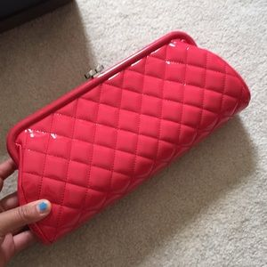 Chanel patent clutch bag